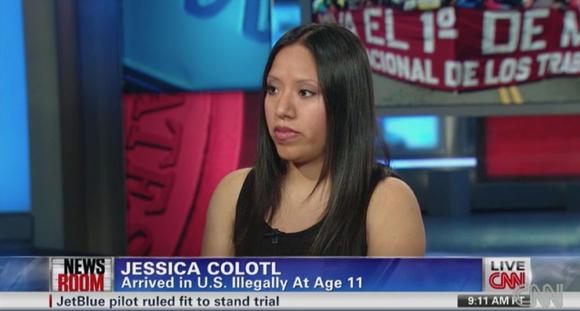 Jessica being interviewed on CNN
