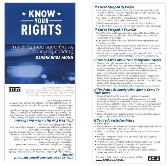 Know Your Rights card image