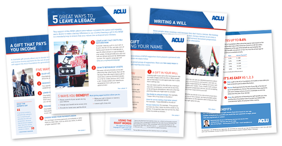 5 Great Ways to leave a legacy fact sheets