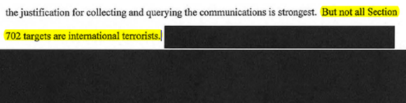 FOIA document redacted screenshot