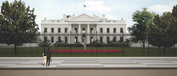Proposed fence outside of the White House