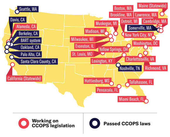 Cities working on CCOPS legislation
