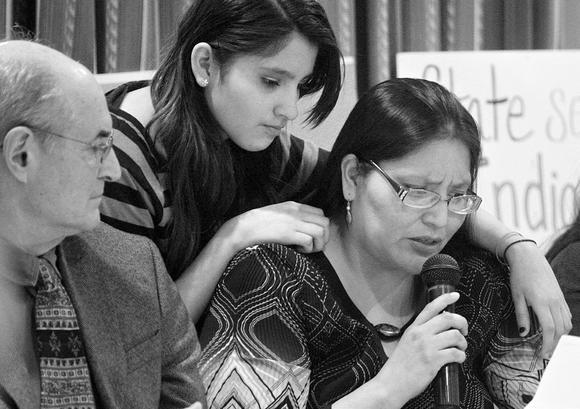Social Worker at a hearing