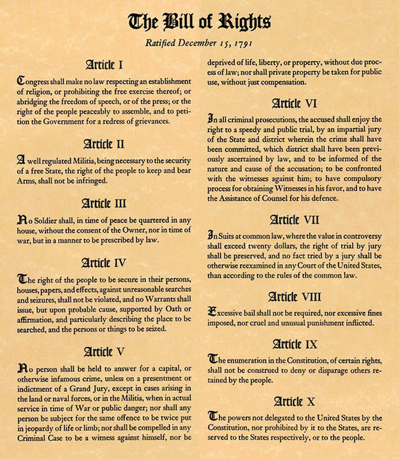 Bill of Rights first ten articles