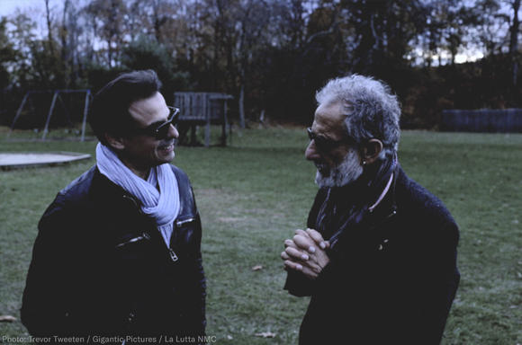 Filmmaker Antonino D'Ambrosio and retired New York City Police Detective Frank Serpico