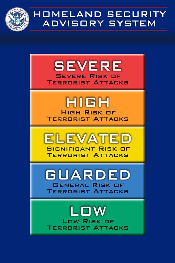 Terror alert levels