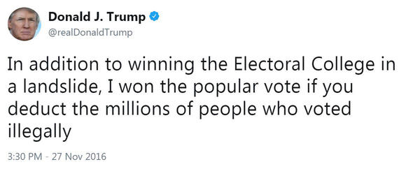 Trump Electoral College Tweet