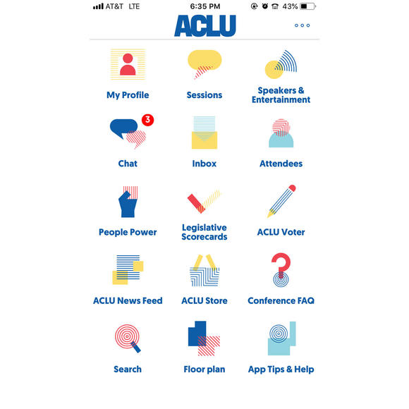 ACLU Conference app
