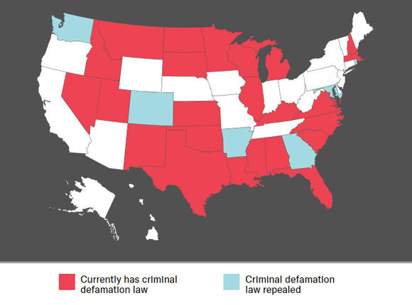 Criminal Defamation in the United States