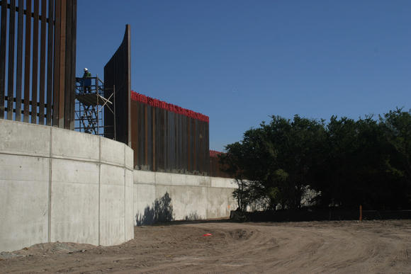 Levee Border Wall in the Lower Rio Grande Valley National Wildlife Refuge. 2009.