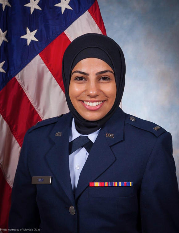 Plaintiff Maysaa Ouza's official Air Force portrait
