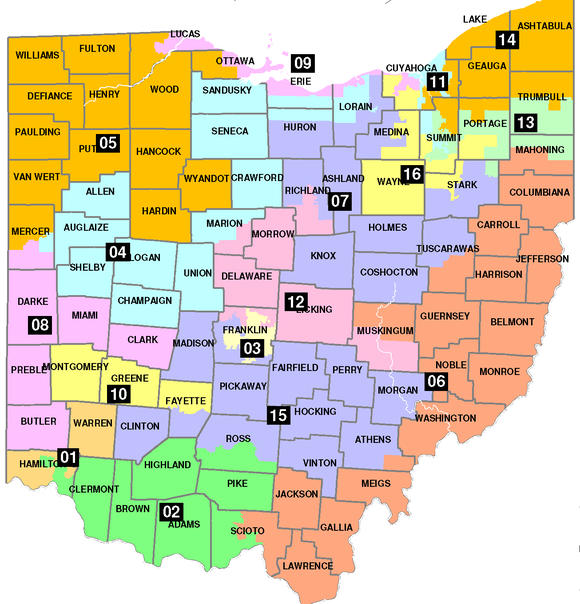 Current Ohio District Map