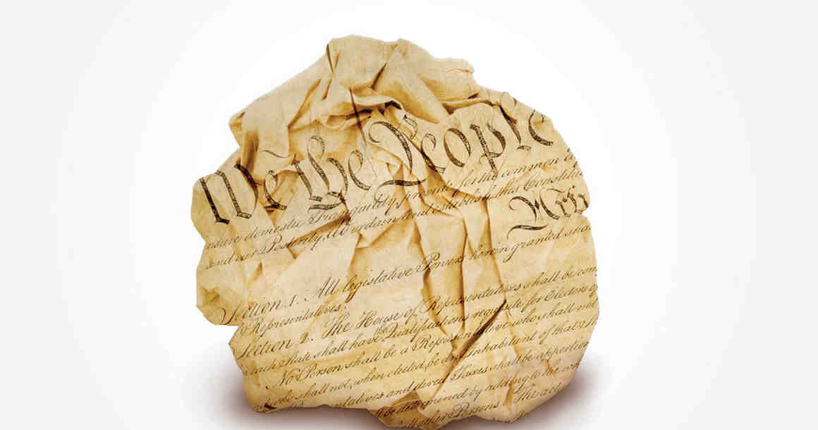 Crumpled Constitution