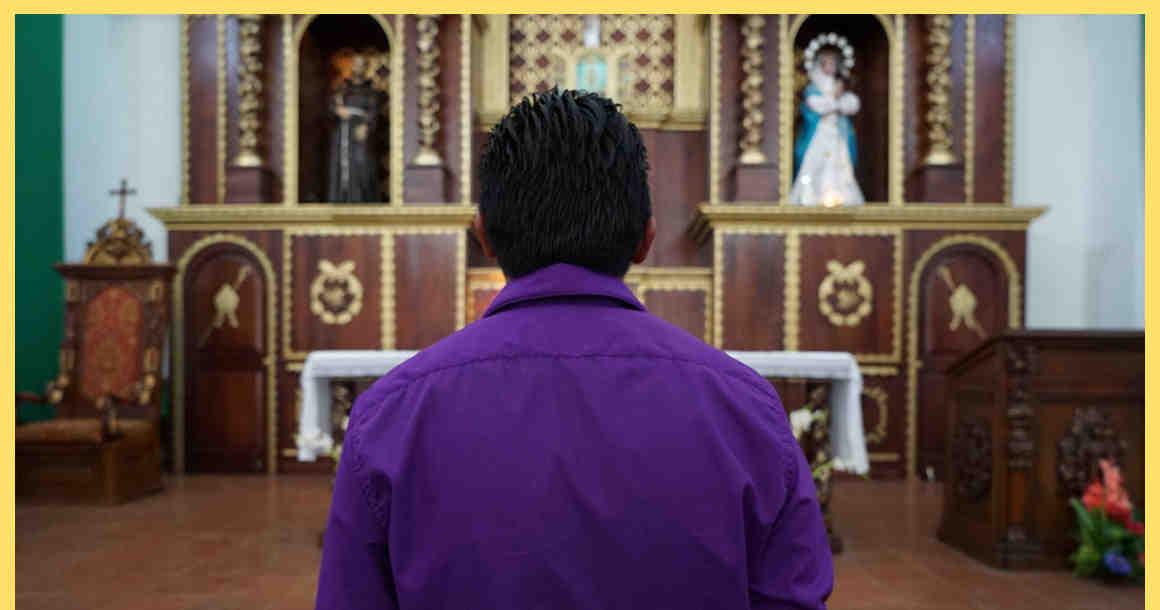 Ricardo standing at alter