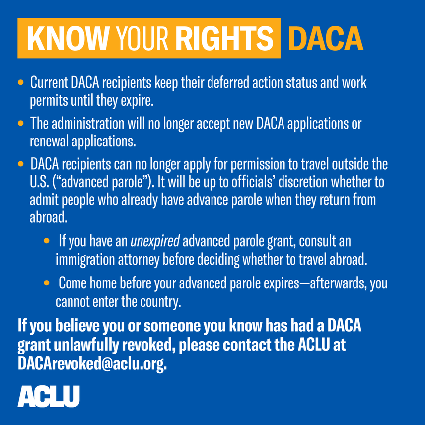 Know Your Rights: DACA