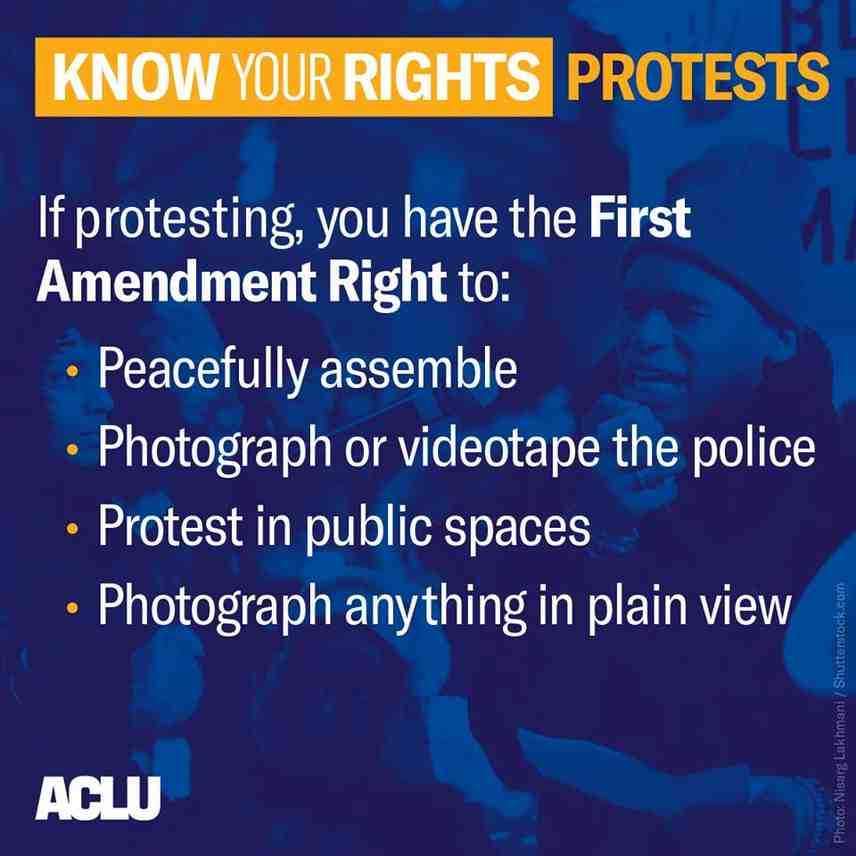 Know your rights: protests