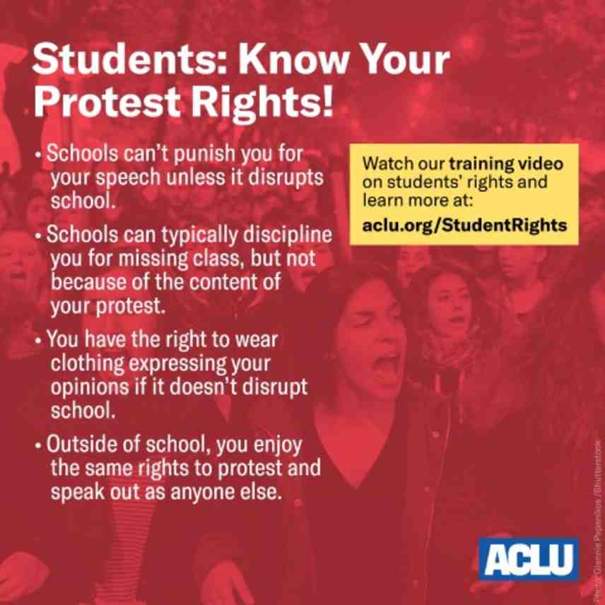 Know Your Rights Students Free S Ch Rights In Public Schools