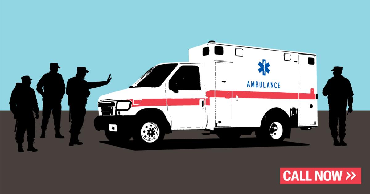 Resultado de imagen de ambulance checkpoint drug test