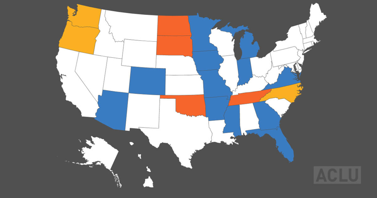 AntiProtest Bills Around The Country American Civil Liberties Union - Us protest map vs voter map