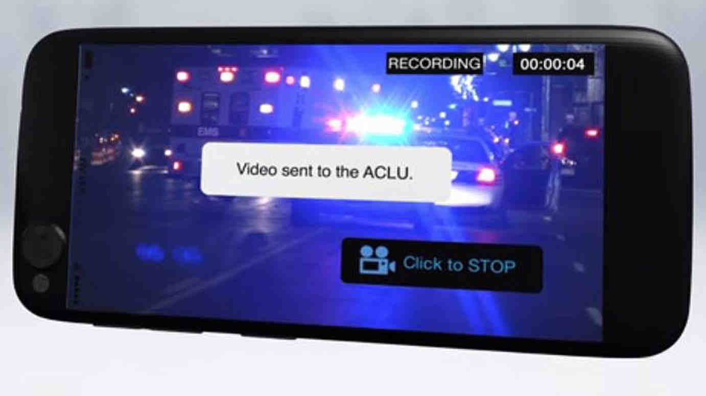 ACLU App to Record Police Conduct