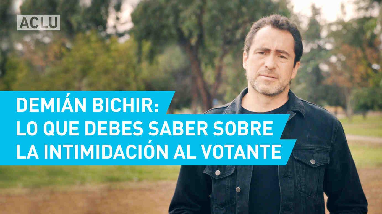 Demian Bichir: Lo que debes saber sobre la intimidaction al votante