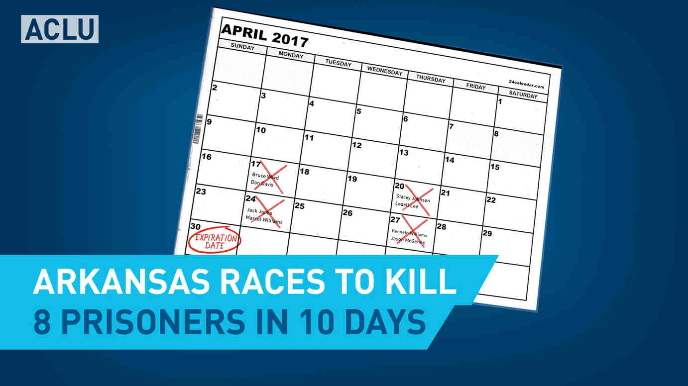 Arkansas Races To Kill 8 Prisoners in 10 Days