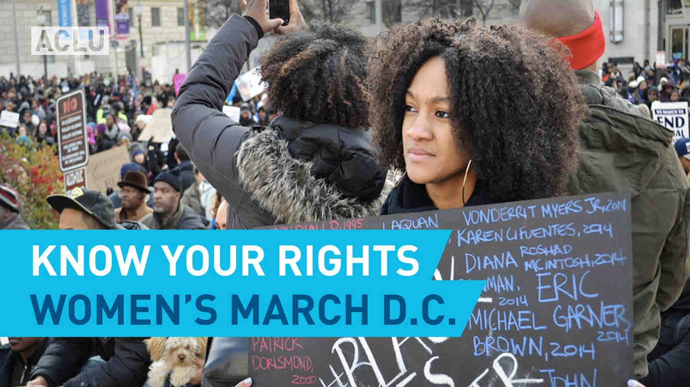 Know Your Rights: Women's March D.C.