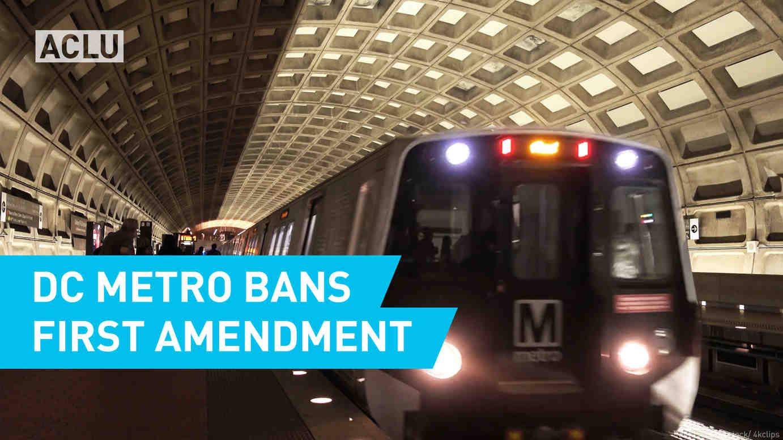 DC Metro Bans First Amendment