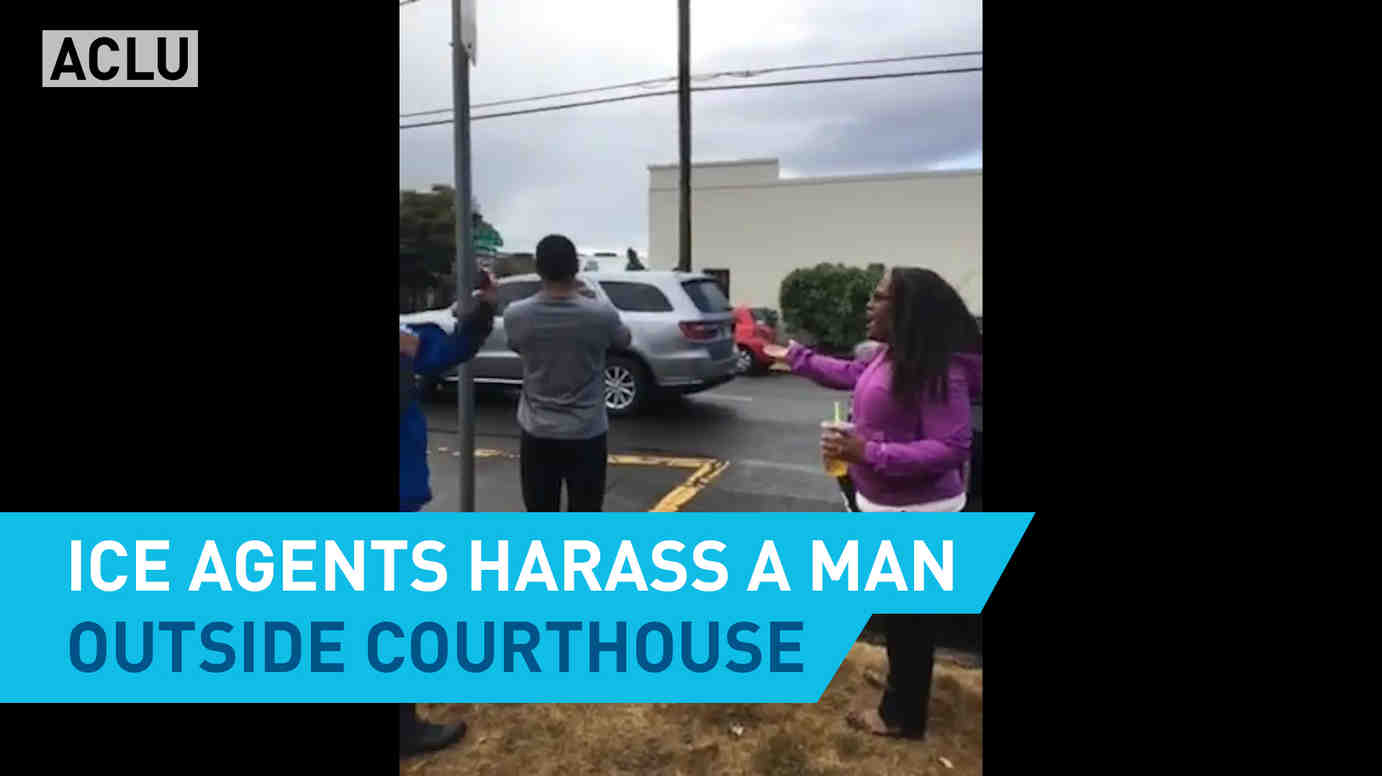 ICE Agents Harass A Man Outside Courthouse