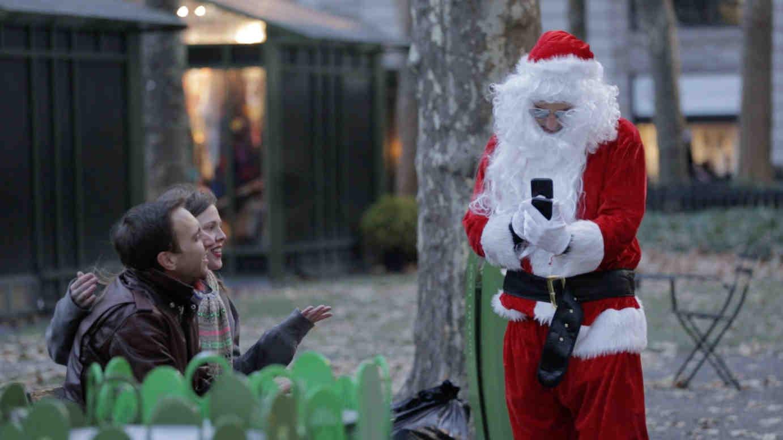 Santa on mobile device