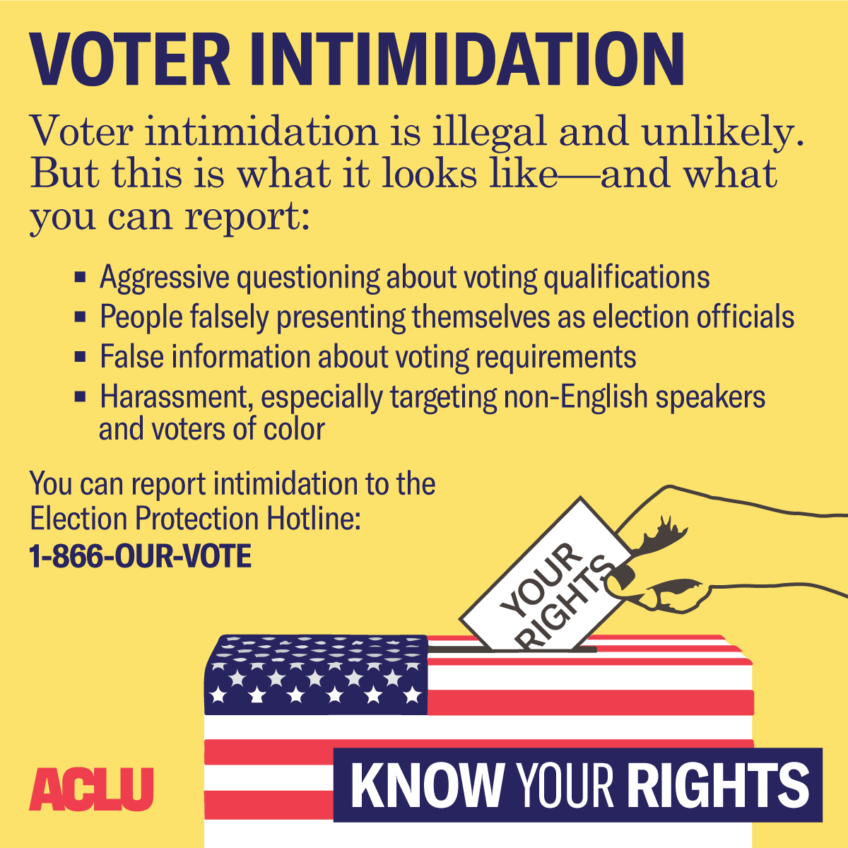 What To Do When Faced With Voter Intimidation   American Civil ...