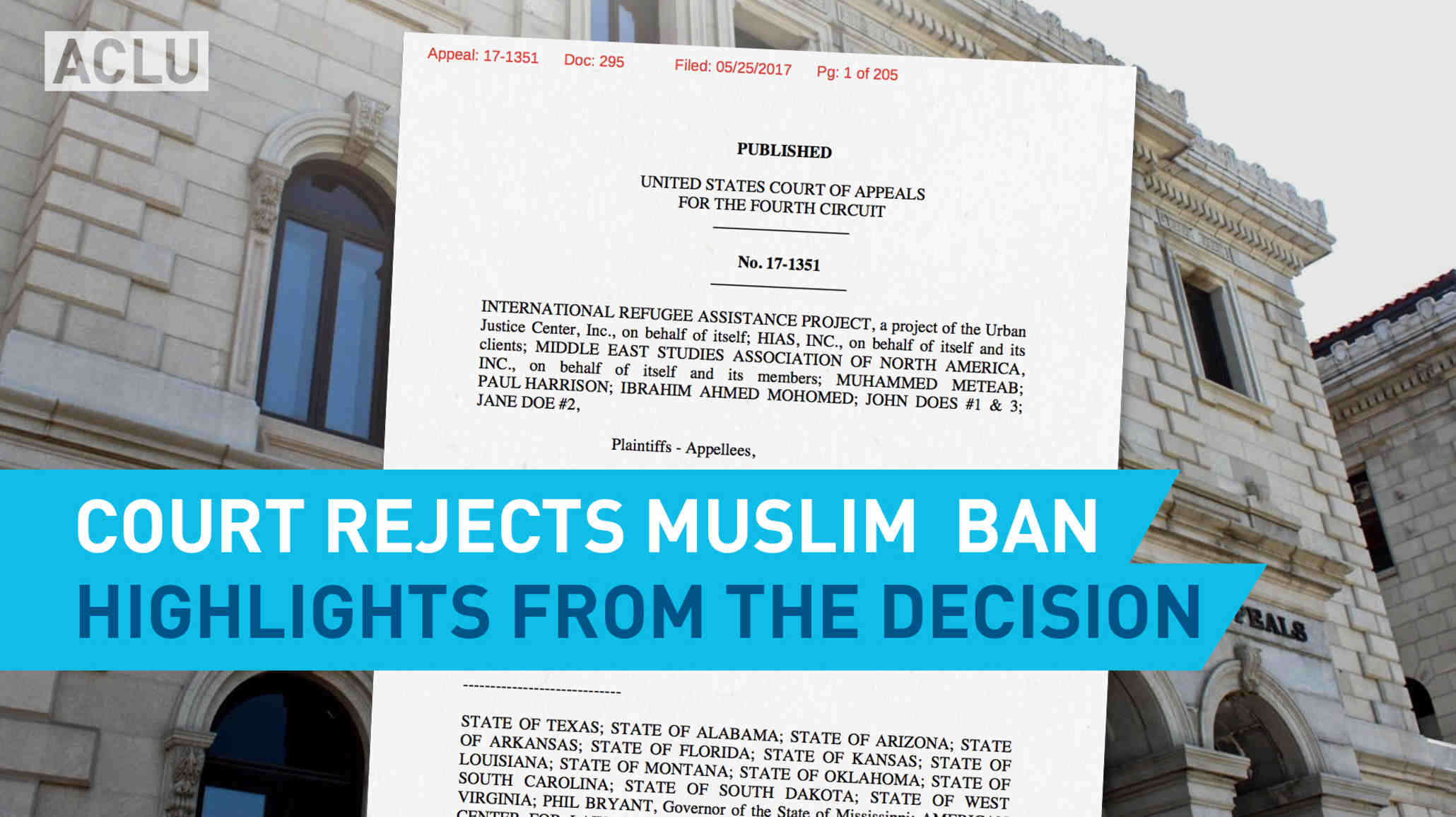 Court Rejects Muslim Ban Highlights From The Decision American No Of Appeals Virginia Is A State Appellate For