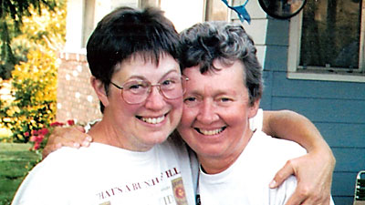 Jan and Mary Anne at home in Helena