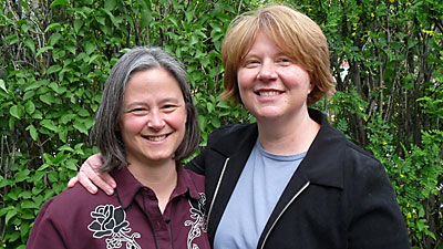 Mary and Stacey, together 12 years.