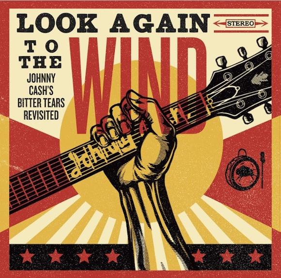 Johnny Cash album cover for Look Again to the Wind